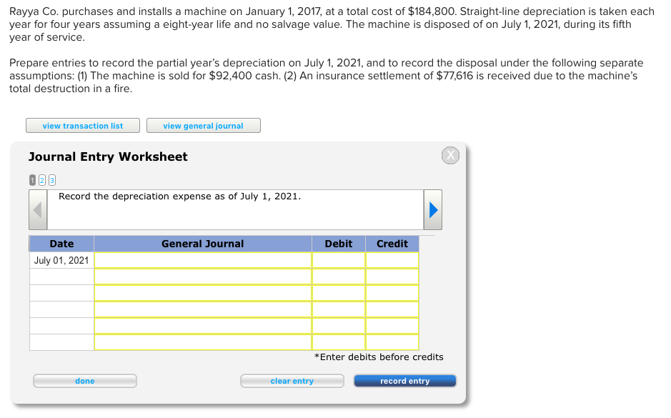 accounting accounts receivable and straight line depreciation