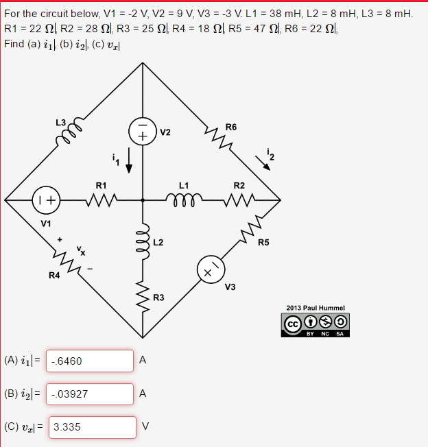 Solved For The Circuit Below V1 2 V V2 9v V3 3