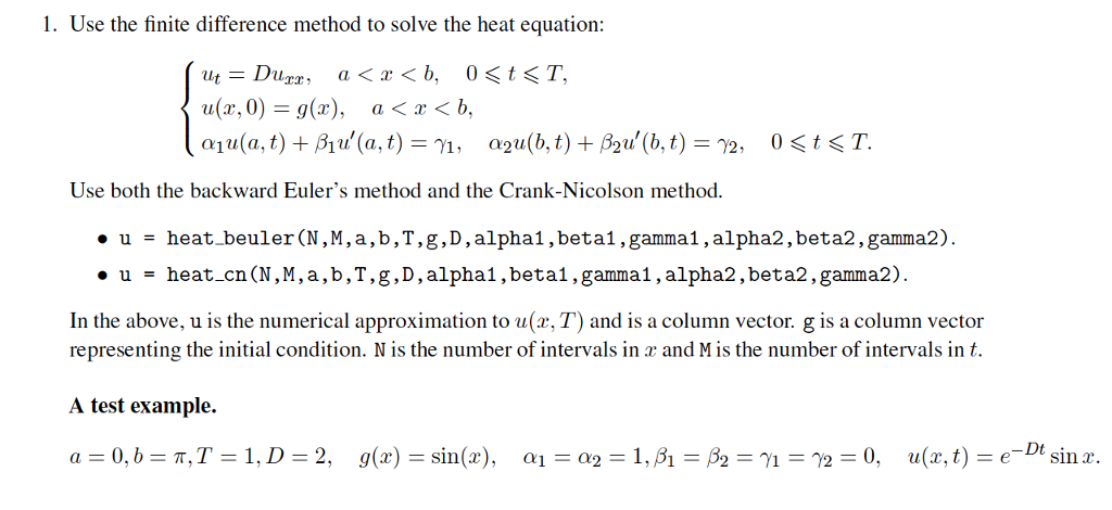 Finite Difference Method Example