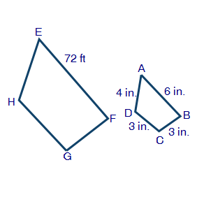 Solved quadrilateral abcd in the figure below represents 72 ft 4 in 6 in 3 in 3 in ccuart Gallery