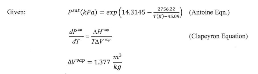 Solved: Estimate The Heat Of Vaporization Of Acetone At 29 ...