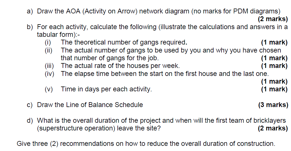 Draw the aoa activity on arrow network diagram chegg a draw the aoa activity on arrow network diagram no marks for ccuart Image collections