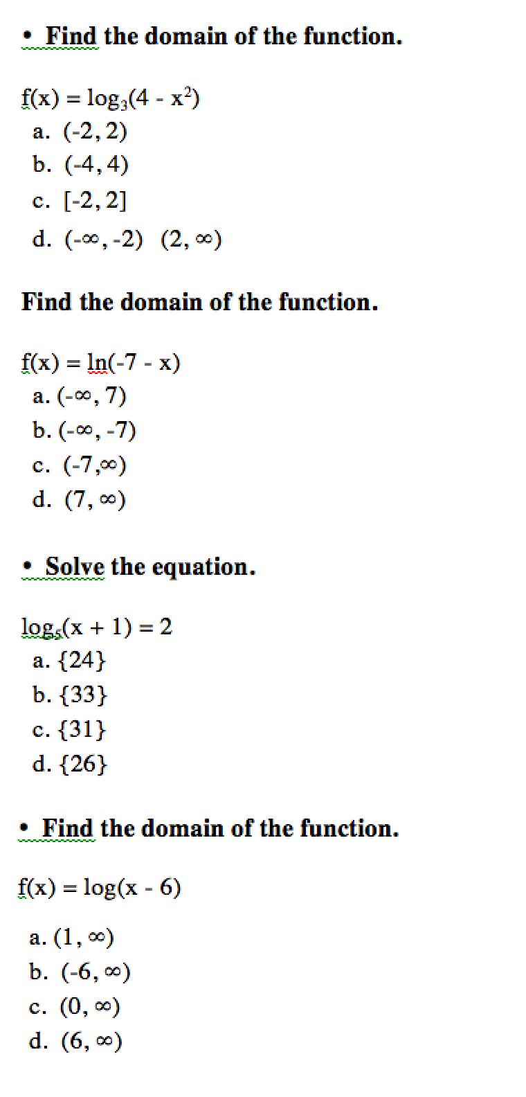 How to find the domain of a function 58