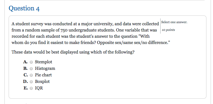 solved a student survey was conducted at a major universi