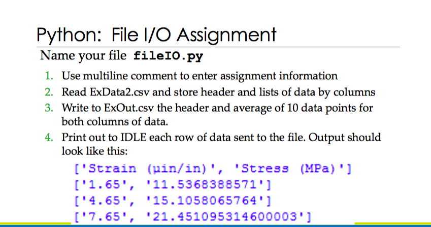 Solved: Name Your File FilelO py Use Multiline Comment To