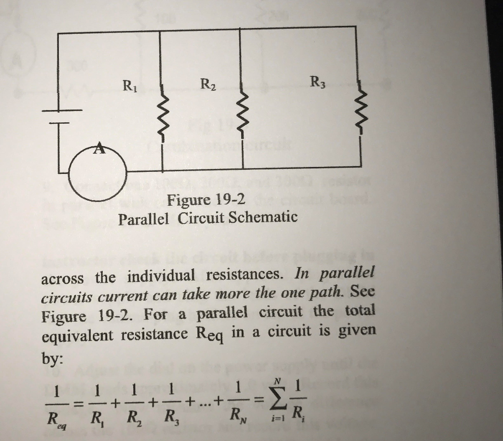 Solved Calculate The Equivalent Resistance Of Circuit Parallel Current Figure 19 2 Schematic Across Individual Resistances In Circuits