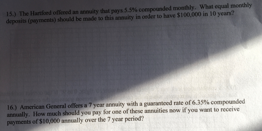 Hartford Annuity Login >> Solved The Hartford Offered An Annuity That Pays 5 5 Com