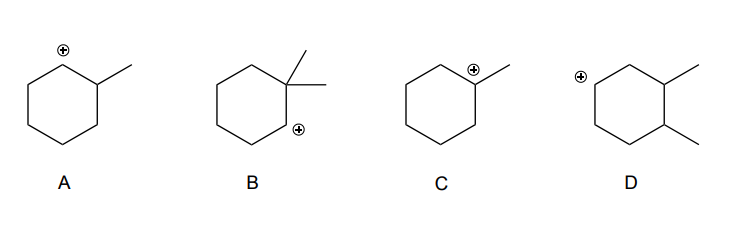 Solved: Which Of The Following Carbocations Will Rearrange ...