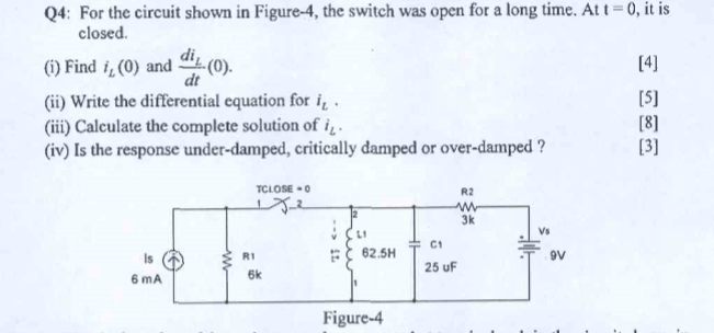Electrical engineering archive february 24 2018 chegg q4 for the circuit shown in figure 4 the switch was open for fandeluxe Image collections