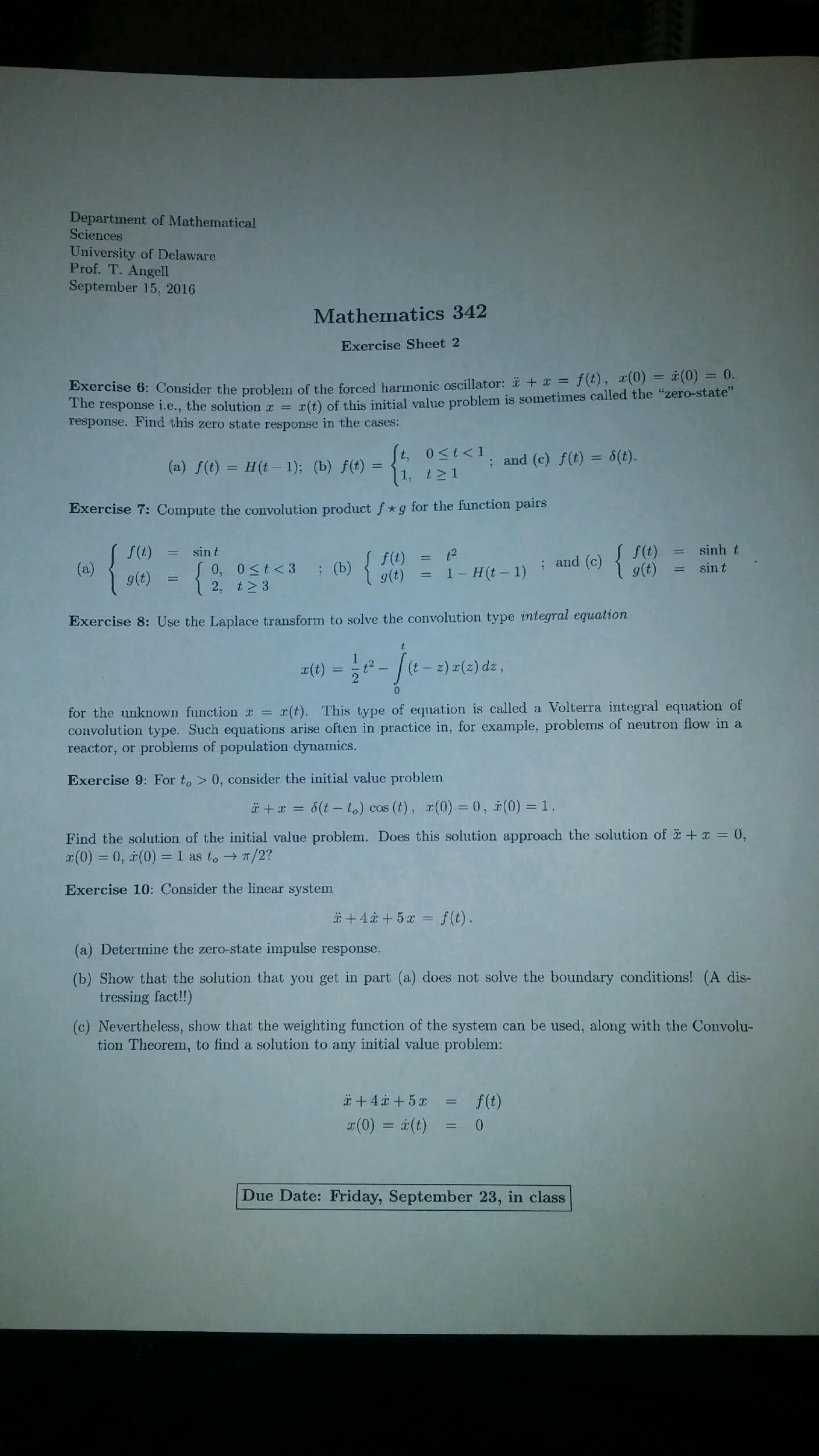 Solved: Department Of Mathematical Sciences University Of ...