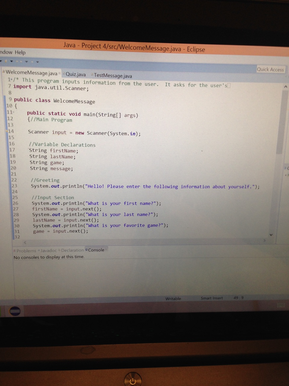 help with coding Get help for java and running java applets.