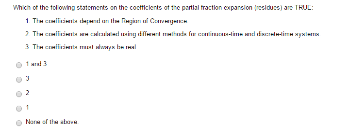 Which of the following statements on the coefficie