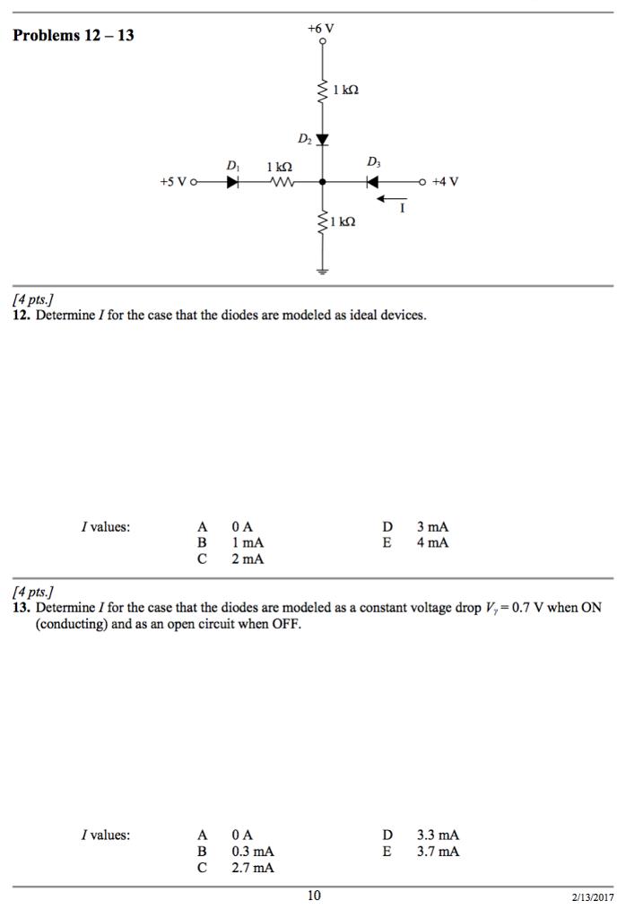 solved 6 v problems 12 1 3 d2 ds 5 v 4 v 4 pts 12 rh chegg com