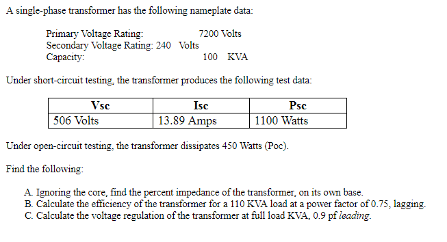 Kva To Amps Transformer