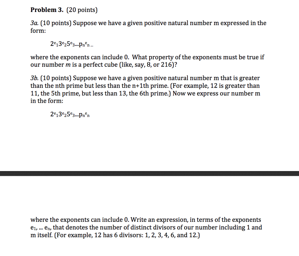 Solved What Property Of The Exponents Must Be True If Our