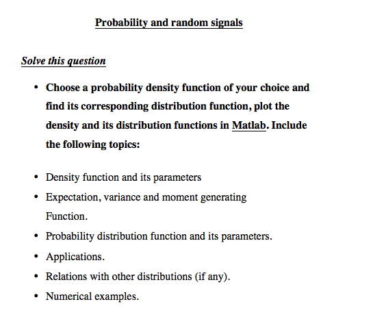 Solved: Probability And Random Signals Solve This Question
