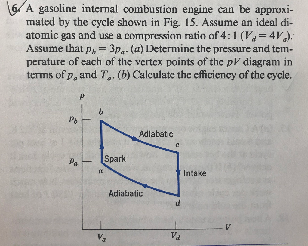 Physics archive march 12 2018 chegg a gasoline internal combustion engine can be approxi mated by the cycle shown in fig fandeluxe Choice Image