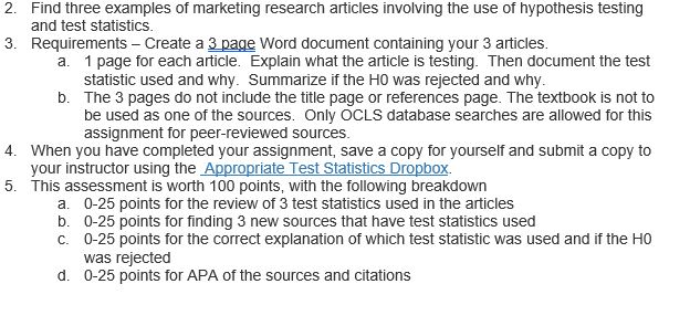 Solved Find Three Examples Of Marketing Research Articles