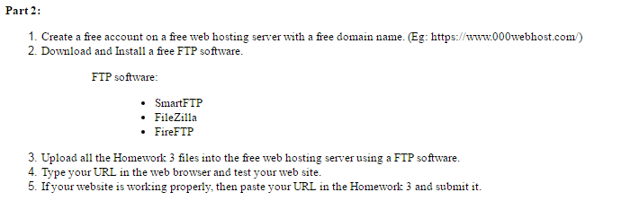 Solved: Create A Free Account On A Free Web Hosting Server