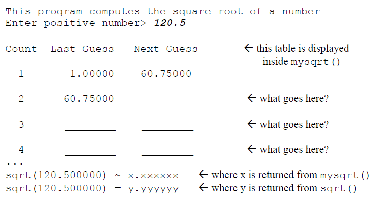 Solved: Write This Program In C  The Square Root Of A Numb