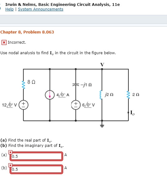 Electrical engineering archive july 31 2017 chegg 0 answers irwin nelms basic engineering circuit analysis 11e help i system announcements chapter 8 fandeluxe Image collections