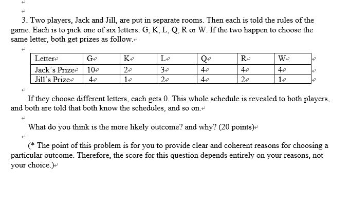 Hi Can I Get Help For This Game Theory Problem A