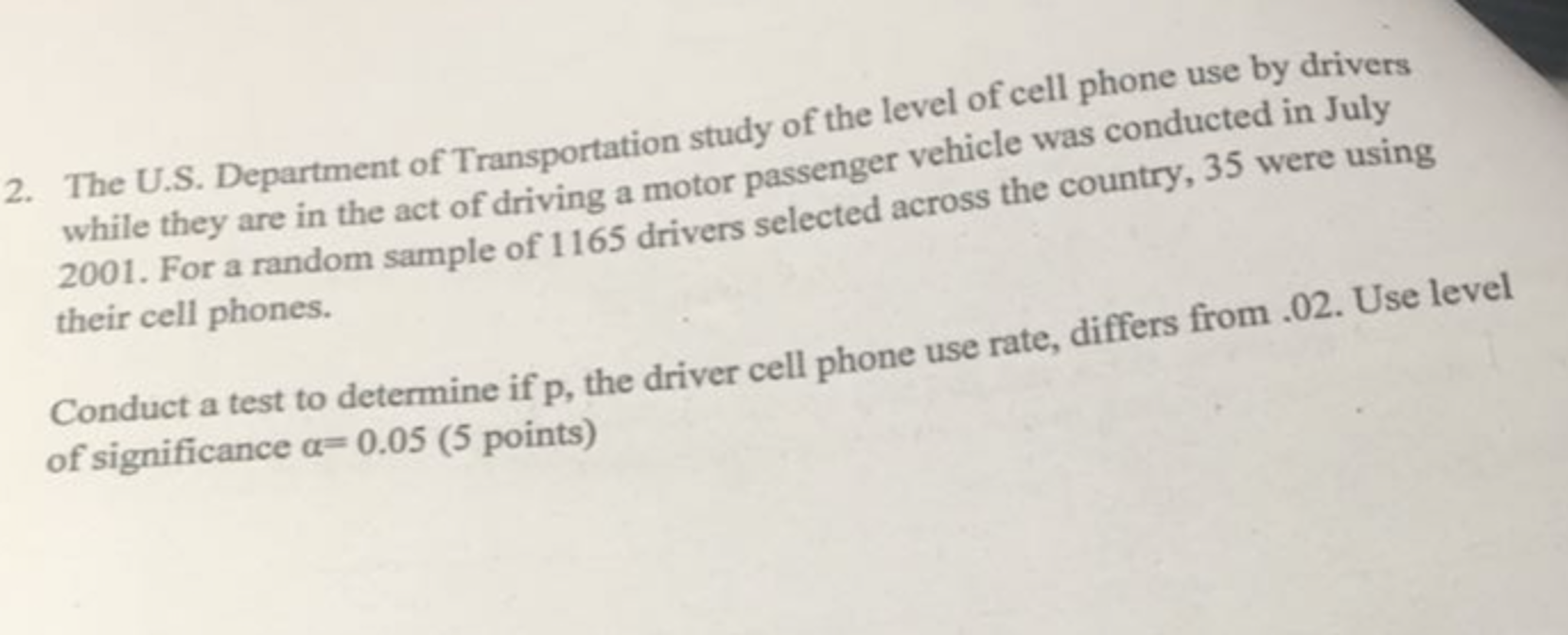research paper cell phone use while driving