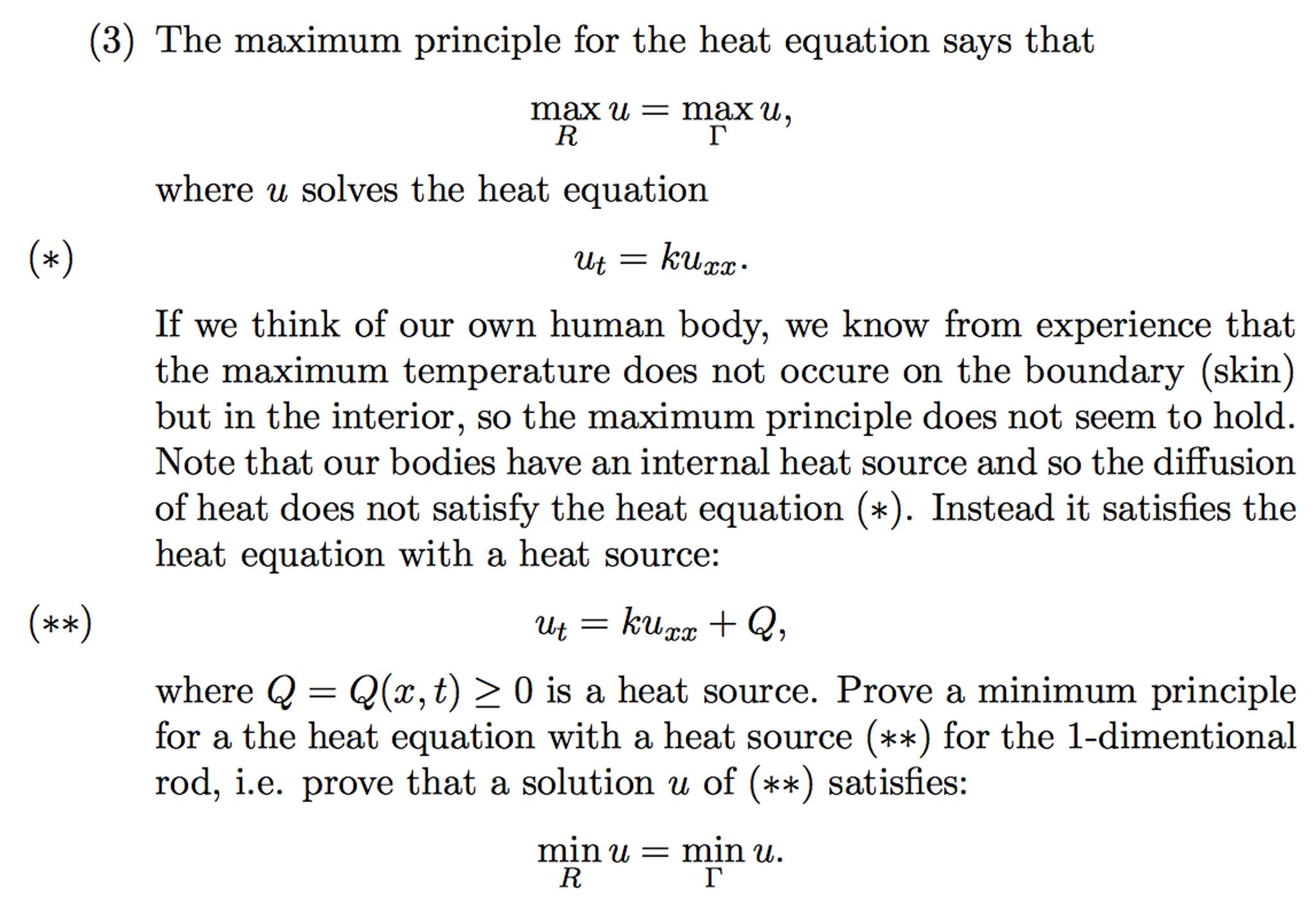 Partial Differential Equation (PDE), Heat Equation    | Chegg com