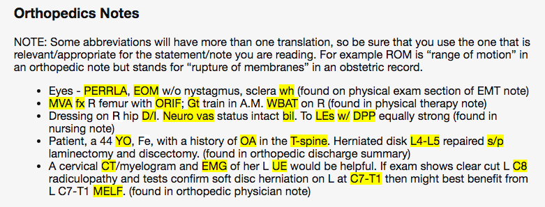 solved medical terminology abbreviations help all the ab