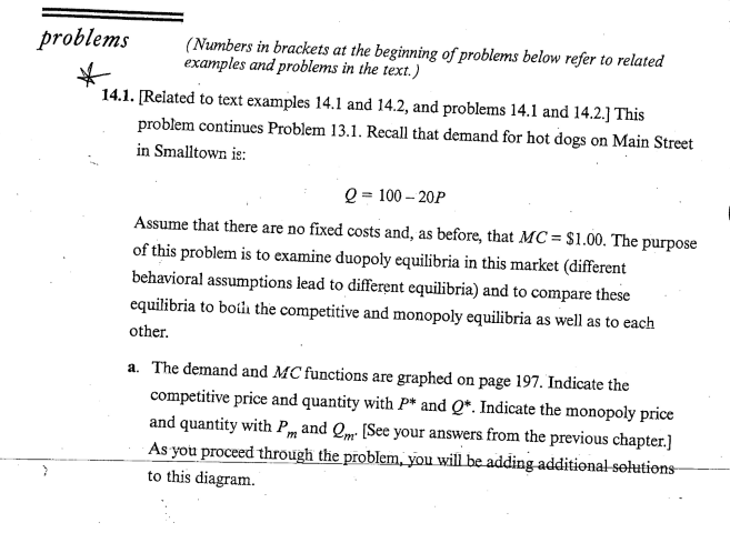 Problems(Numbers In Brackets At The Beginning Of P