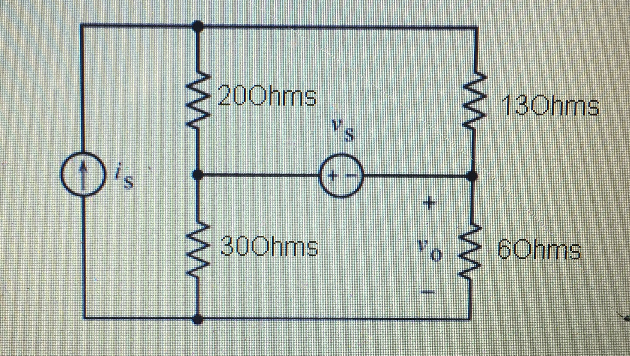 solved the inputs to this circuit are the current sourcequestion the inputs to this circuit are the current source current is and the voltage source voltage vs t
