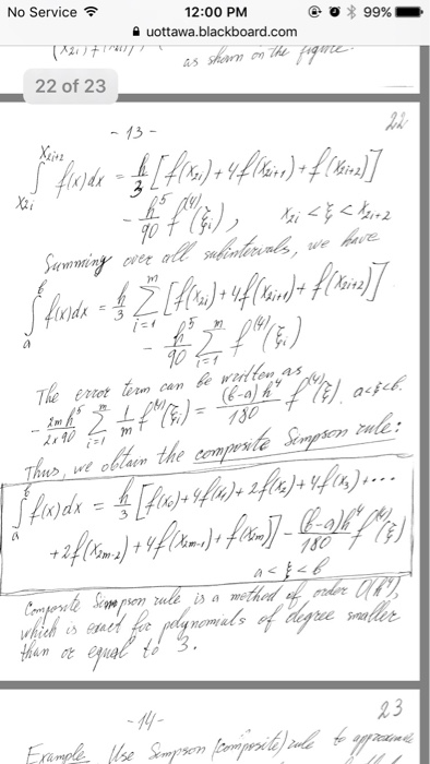 Solved: Da To 6 Decimal Places  5  Use Simpson's Rule With