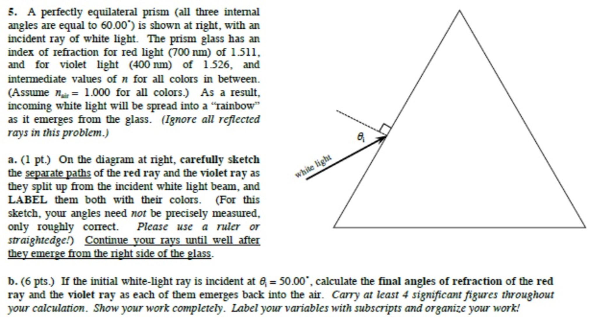 Solved: A Perfectly Equilateral Prism (all Three Internal