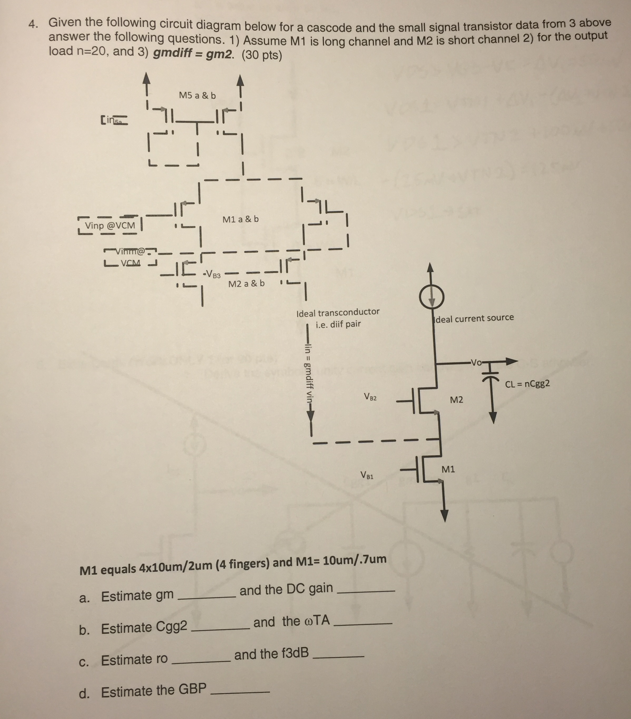 Transistor Data Diagram Trusted Wiring L14f1 L14f2 Datasheet 4 Given The Following Circuit Below For A Chegg Com Npn