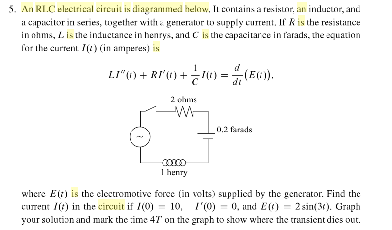 solved an rlc electrical circuit is diagrammed below it rh chegg com