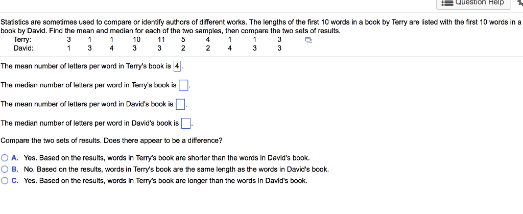 Solved Question Help Statistics Are Sometimes Used To Com