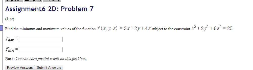 how to find the minimum y value