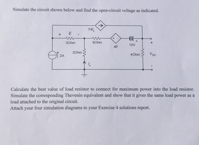 solved simulate the circuit shown below and find the open rh chegg com