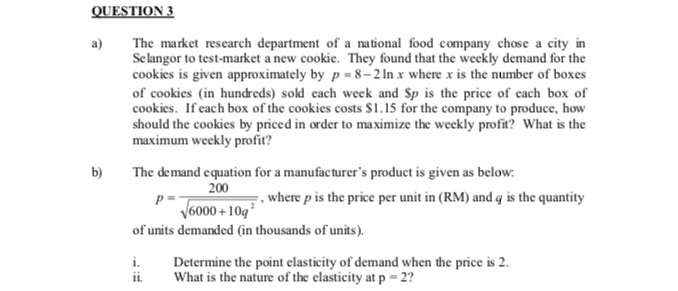 Solved: The Market Research Department Of A National Food