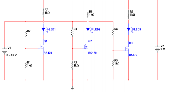 Solved: 1. Design The MOSFET-based Night Light Circuit, Sh ...