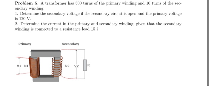 Solved: A Transformer Has 500 Turns Of The Primary Winding