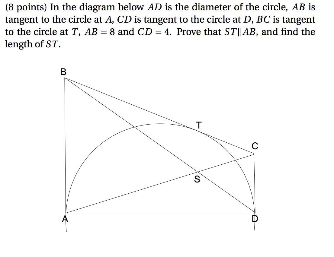 Solved in the diagram below ad is the diameter of the cir image for in the diagram below ad is the diameter of the circle ab is ccuart Image collections