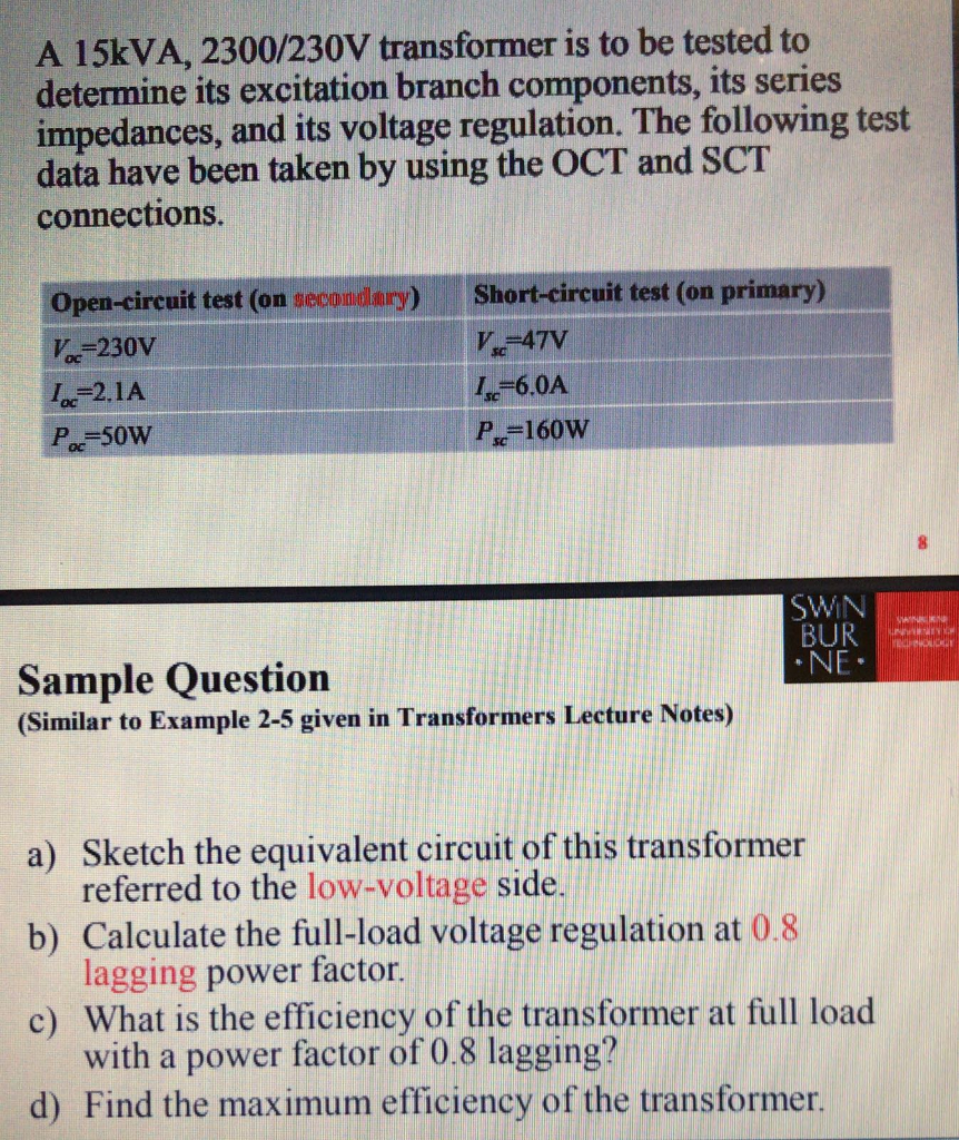 how to write a letter in block format%0A A   kVA          V transformer is to be tested to determine its excitation  branch