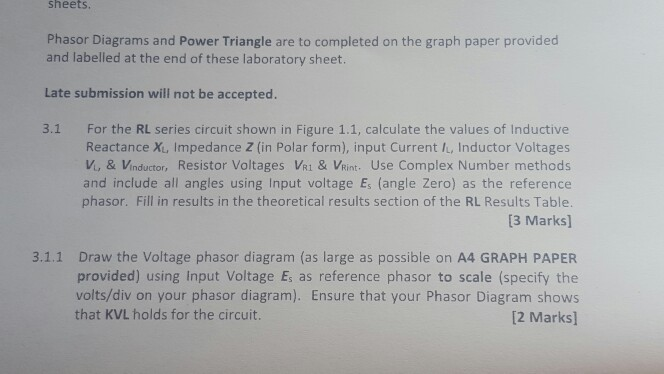 solved sheets phasor diagrams and power triangle are to