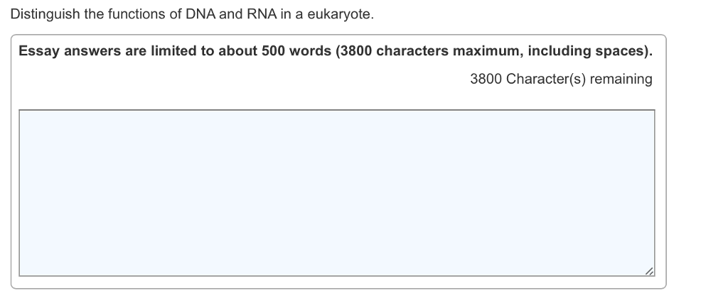 distinguish the functions of dna and rna in a euka com distinguish the functions of dna and rna in a eukaryote essay answers are limited to