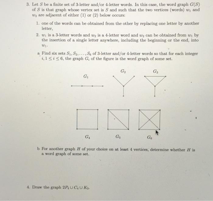 Solved Let S Be A Finite Set Of 3 Letter Andor 4 Letter