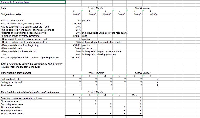 solved chapter 8 applying excel excel worksheet part 1
