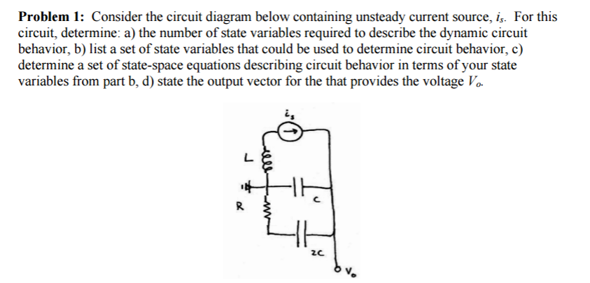 Solved: Consider The Circuit Diagram Below Containing Unst ...