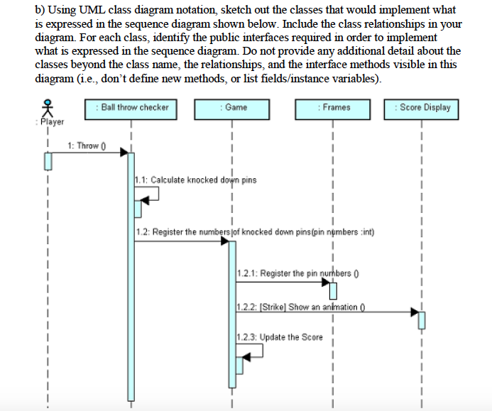 Solved using uml class diagram notation sketch out the c b using uml class diagram notation sketch out the classes that would implement what ccuart Image collections