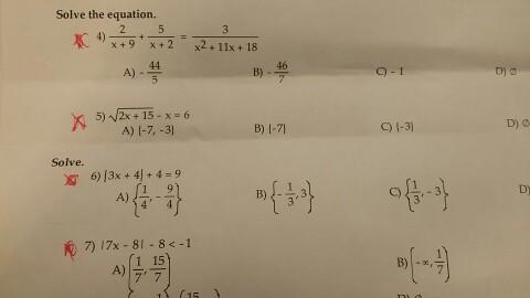Solved Solve The Equation 2 X 9 5 X 2 3 X 2 11x Chegg Com